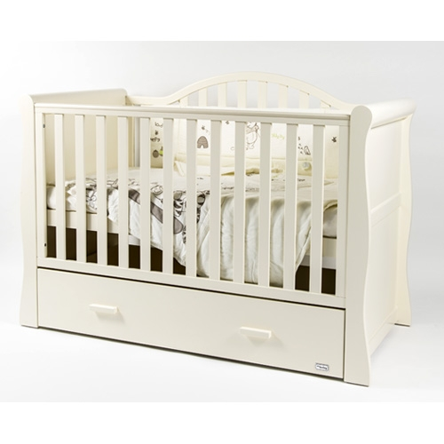 Br Oslo Cot Bed Cream Plus Spring Mattress Donnelly